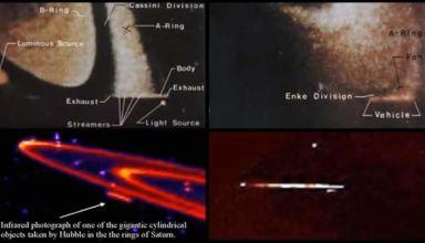 Ovni autour de Saturne