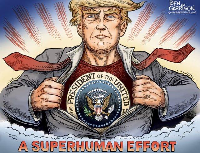 Trump super héros