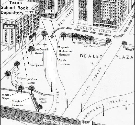 Emplacements des tireurs de Dealey Plaza-1