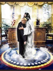 Trump béni par Jésus
