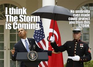The storm is coming