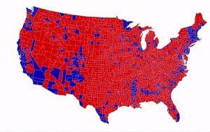 Map vague rouge